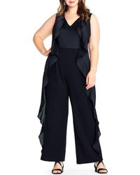 Adrianna Papell - Plus Size Cascade Ruffle Jumpsuit - Lyst