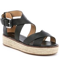21d1d6d9e533 MICHAEL Michael Kors - Darby Vachetta Leather Flatform Espadrille Sandals -  Lyst