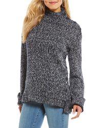 William Rast - Charlie Cozy Mockneck Long Sleeve Sweater - Lyst