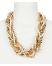 Dillard's - Braided Chain Collar Statement Necklace - Lyst