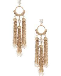 Belle By Badgley Mischka - Chain Tassels Earrings - Lyst