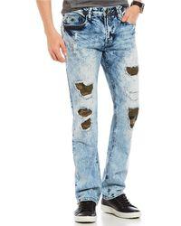 Buffalo David Bitton - Evan-x Slim Straight Destructed Camo Jeans - Lyst