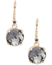Belle By Badgley Mischka - Round Stone Drop Earrings - Lyst