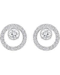 Swarovski Creativity Circle Stud Earrings - Metallic