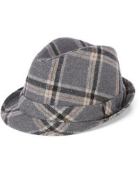 adb79d1427e Lyst - Cremieux Small Plaid Driver Hat in Gray for Men