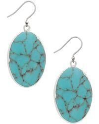 Lucky Brand - Turquoise Drop Earrrings - Lyst
