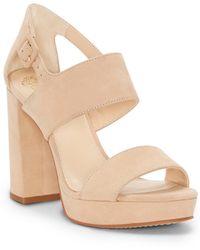 Vince Camuto - Jayvid Suede Platform Block Heel Sandals - Lyst