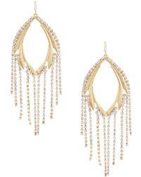 Belle By Badgley Mischka - Crystal Fringe Earrings - Lyst