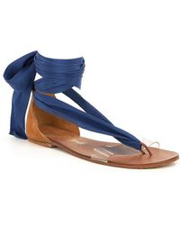 Free People | Barcelona Wrap Sandals | Lyst