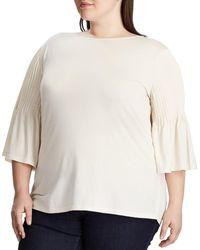 Lauren by Ralph Lauren - Plus Size Pintuck-sleeve Knit Top - Lyst