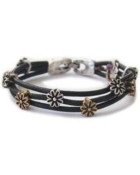 Lucky Brand - Flower Woven Bracelet - Lyst