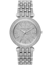 ec2268b6905b Michael Kors Mini Bradshaw Pavé Chronograph   Date Bracelet Watch in ...