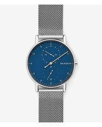 Skagen - Signatur Three-hand Steel-mesh Watch - Lyst