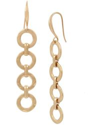 Robert Lee Morris - Gold Link Linear Earrings - Lyst
