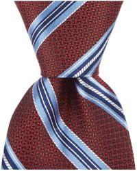 "Cremieux - Contrast Satin Stripe Traditional 3 1/4"" Silk Tie - Lyst"