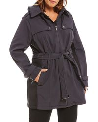 MICHAEL Michael Kors - Plus Belted Soft Shell Trench Jacket - Lyst