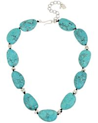 Robert Lee Morris - Robert Lee Morris Turquoise And Silver Station Collar Necklace - Lyst