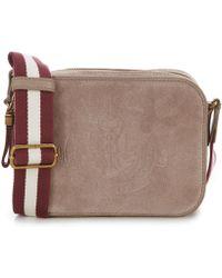 Lyst - Lauren By Ralph Lauren Velvet Cross-body Bag in Purple c2267f4b0d