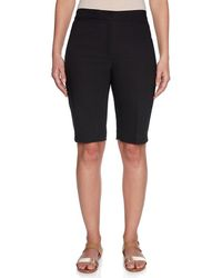 Ruby Rd. - Petite Size Double Face Stretch Shorts - Lyst