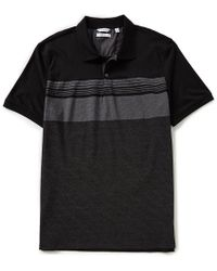 CALVIN KLEIN 205W39NYC - Engineered Stripe Jacquard Short-sleeve Polo Shirt - Lyst