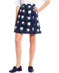 Draper James - Magnolia A-line Floral Print Pleated Skirt - Lyst
