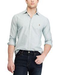 Polo Ralph Lauren - Vertical Stripe Oxford Long-sleeve Woven Shirt - Lyst