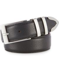 Cremieux - Pebble Leather Belt - Lyst
