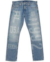 Polo Ralph Lauren Varick Slim-straight Printed Denim Jeans - Blue