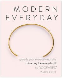 Dogeared - Modern Everyday Hammered Cuff Bracelet - Lyst