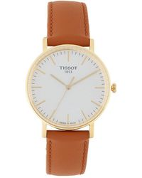 Tissot - Everytime Analog Leather-strap Watch - Lyst