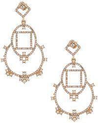 Belle By Badgley Mischka - Geometric Chandelier Earrings - Lyst