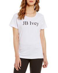 "Heritage - ""j.b. Ivey"" Logo Short Sleeve Tee - Lyst"