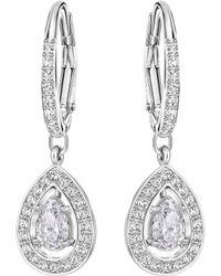 Swarovski - Attract Light Drop Earrings - Lyst