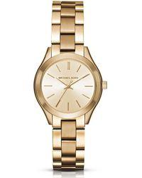 Michael Kors | Mini Slim Runway Analog Bracelet Watch | Lyst