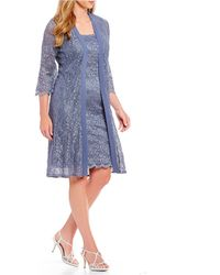 Alex Evenings - Plus Size Lace Elongated Jacket Dress - Lyst