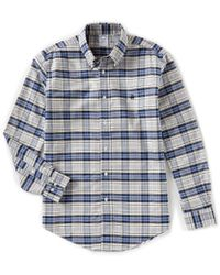 Brooks Brothers - Non-iron Plaid Oxford Pima Cotton Long-sleeve Woven Shirt - Lyst