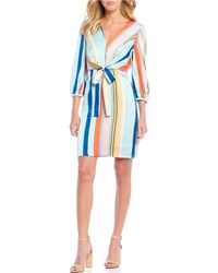 221c5ccc450bf Lucy Paris Kimmy Ruched Dress in Blue - Lyst