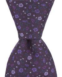 "John Varvatos - Small Flower Traditional 3.14"" Silk Tie - Lyst"