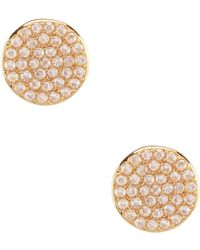Kate Spade - Pav Circle Stud Earrings - Lyst