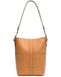 Frye - Ilana Perforated Bucket Hobo Bag - Lyst