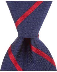 "Brooks Brothers - Textured Bar Stripe Traditional 3.25"" Silk Tie - Lyst"