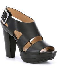 c3d078596fb5 MICHAEL Michael Kors - Carla Vachetta Leather Platform Sandals - Lyst