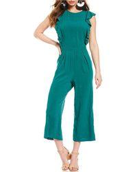 June & Hudson - Culotte Jumpsuit - Lyst