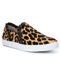 Kate Spade - Lilly Leopard Print Calf Hair Sneakers - Lyst
