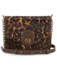 Lauren by Ralph Lauren - Leopard Haircalf Cross-body Bag - Lyst