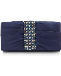 Adrianna Papell - Neary Pleated Stone Clutch - Lyst