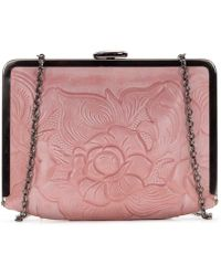 Patricia Nash - Waxed Tooled Collection Cariati Square Frame Clutch - Lyst