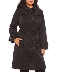 London Fog - Plus Belted Water Repellent Trench Coat - Lyst