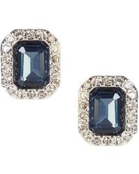 09b80286a Lauren by Ralph Lauren - Blue Stone Stud Earrings - Lyst