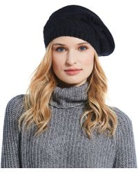 UGG - Ladies' Cable Beret With Bow - Lyst